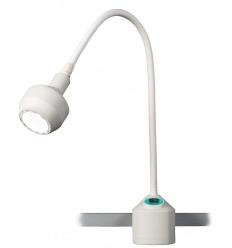 Lampa Badawczo-Zabiegowa FLH-2 HALOGEN z mocowaniem na szynie (z gęsią szyją, bezcieniowa)