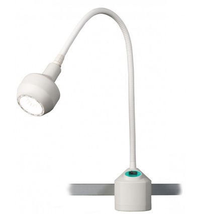 Lampa Badawczo-Zabiegowa FLH-2, z mocowaniem na szynie, (z gęsią szyją, bezcieniowa)
