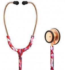Stetoskop Internistyczny SPIRIT CK-S601PF Rose Gold Satin Camouflage Majestic Series Adult Dual Head