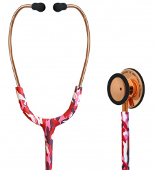 Stetoskop Internistyczny SPIRIT CK-S601PF Rose Gold Shining Camouflage Majestic Series Adult Dual Head