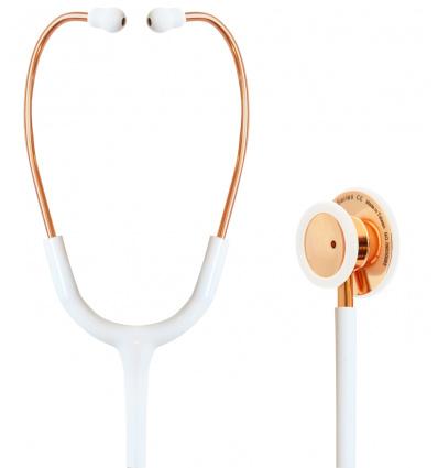 Stetoskop Internistyczny SPIRIT CK-S601PF Rose Gold Shining White Majestic Series Adult Dual Head