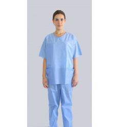 Niejałowe ubranie medyczne spodnie jednorazowe i bluza jednorazowa z krótkim rękawem