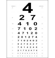 Tablica Snellena - obrazki, cyfry, litery (kartonowa)