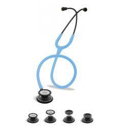 Stetoskop Internistyczno-Pediatryczny SPIRIT CK-SS601CPF Black Edition wszystko w jednym z błękitnym drenem