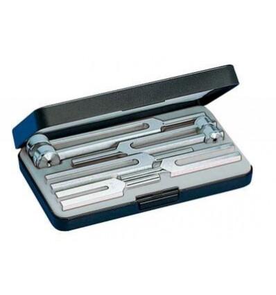 Zestaw III stroików laryngologicznych aluminiowych Riester (5 szt. 128 Hz - 2048 Hz + pudełko)