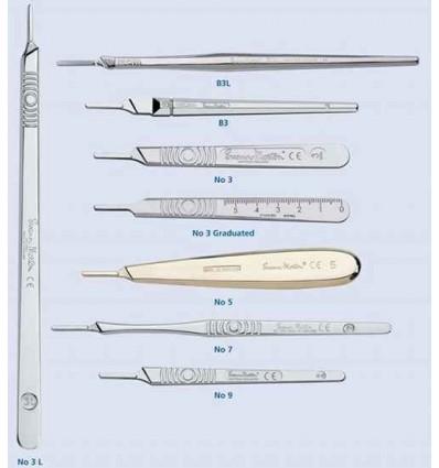 Rękojeść chirurgiczna - mocowanie nr 3 - 1 szt. (uchwyt chirurgiczny, trzonek chirurgiczny)