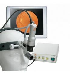 Lampa czołowa światłowodowa MD 1000 na czepcu profesjonalnym, z kamerą z gwintem C i procesorem A-Cam