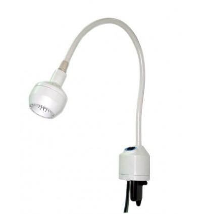 Lampa Badawczo-Zabiegowa FLH-2 LED, z mocowaniem do ściany (z gęsią szyją, bezcieniowa)