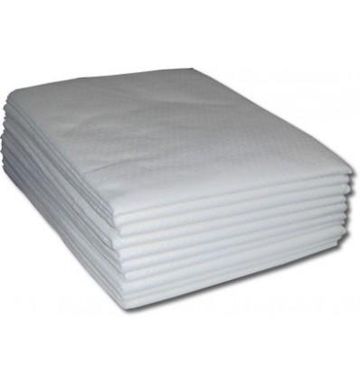 Podkład jednorazowy medyczny biały, płaty 70 cm x 190 cm - 10 szt.