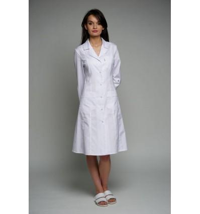 Fartuch medyczny Adela długi rękaw (odzież medyczna)