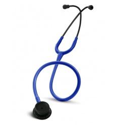 Stetoskop Internistyczny SPIRIT CK-601CPF Majestic Series Adult Dual Head BLACK EDITION z niebieskim drenem
