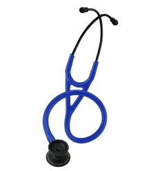 Stetoskop Kardiologiczny SPIRIT CK-747CPF (BLACK EDITION) Deluxelite Series Cardiology z niebieskim drenem