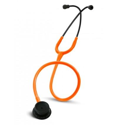Stetoskop Internistyczny SPIRIT CK-601CPFMajestic Series Adult Dual Head BLACK EDITION z pomarańczowym drenem
