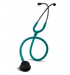 Stetoskop Internistyczny SPIRIT CK-601CPF Majestic Series Adult Dual Head BLACK EDITION z drenem w kolorze zieleń morska