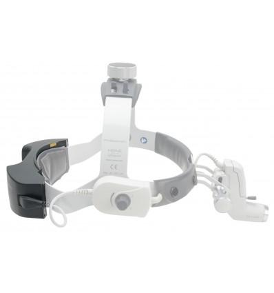 Lampa czołowa diodowa Heine ML4® LED - zasilanie mPack UNPLUGGED z transformatorem ściennym, czepiec profesjonalny