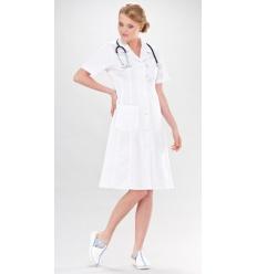 Sukienka medyczna Adela krótki rękaw