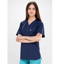 Bluza medyczna Agata krótki rękaw
