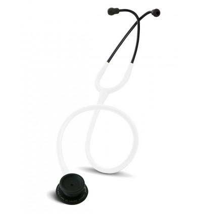 Stetoskop Internistyczny SPIRIT CK-601CPF Majestic Series Adult Dual Head BLACK EDITION z białym drenem
