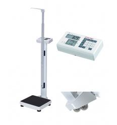 Elektroniczna waga medyczna Charder MS 4910 z funkcją BMI, na kółkach + wzrostomierz teleskopowy (klasy III)