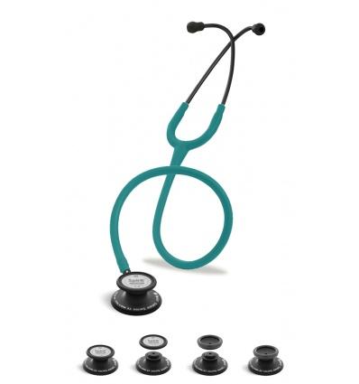 Stetoskop Internistyczno-Pediatryczny SPIRIT CK-SS601CPF Black Edition wszystko w jednymm z drenem w kolorze zieleń morska