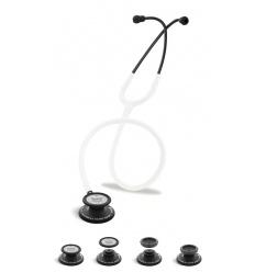 Stetoskop Internistyczno-Pediatryczny SPIRIT CK-SS601CPF Black Edition wszystko w jednym z białym drenem