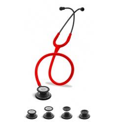 Stetoskop Internistyczno-Pediatryczny SPIRIT CK-SS601CPF Black Edition wszystko w jednym z czerwonym drenem