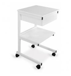 Wózek aluminiowy pod aparaturę z szufladą