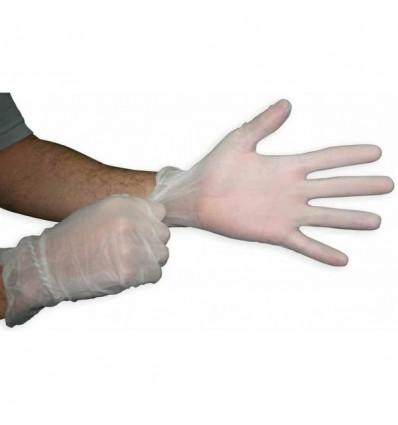 Rękawice diagnostyczne winylowe, niejałowe, bezpudrowe, białe MASTER GLOVE