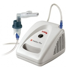 Inhalator sprężarkowy z pompą tłokową przeznaczony do aerozoloterapii SOHO Nebby Plus