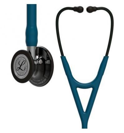 Stetoskop Littmann Cardiology IV SMOKE FINISH HIGH POLISH,błękit karaibski (mirror STEM)